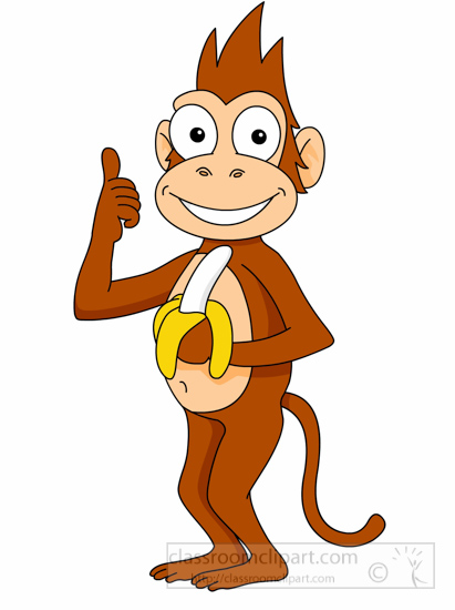 Banana monkey monkey clipart clip black and white library Free Clipart Monkey | Free download best Free Clipart Monkey on ... clip black and white library
