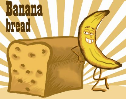 Banana nut bread clipart png library library Clip Art: Banana Bread   Quick Bread ~ Banana   Banana bread, Bread ... png library library