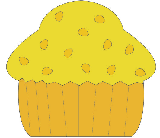 Banana nut muffin clipart graphic library library Banana nut muffin - Third Line Clip Arts graphic library library