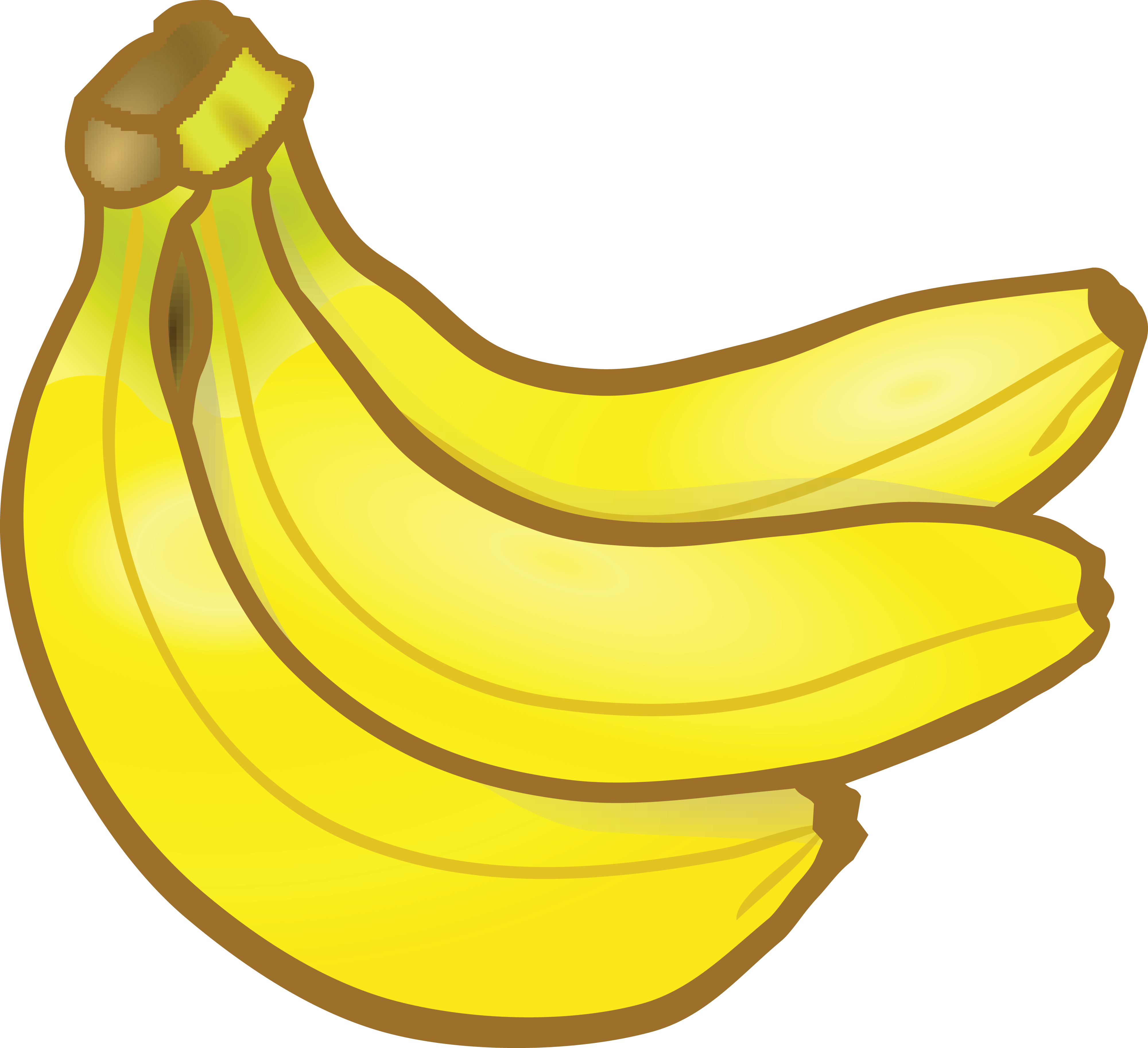 Banana transparent clipart picture black and white HD Free Clipart Of A Banana - Clipart Images Of Banana Transparent ... picture black and white