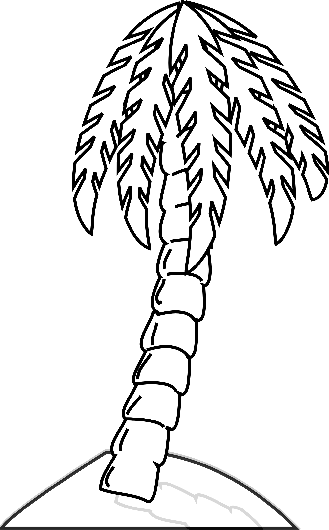 Palm tree clipart vector clip art black and white download 28+ Collection of Banana Tree Line Drawing | High quality, free ... clip art black and white download