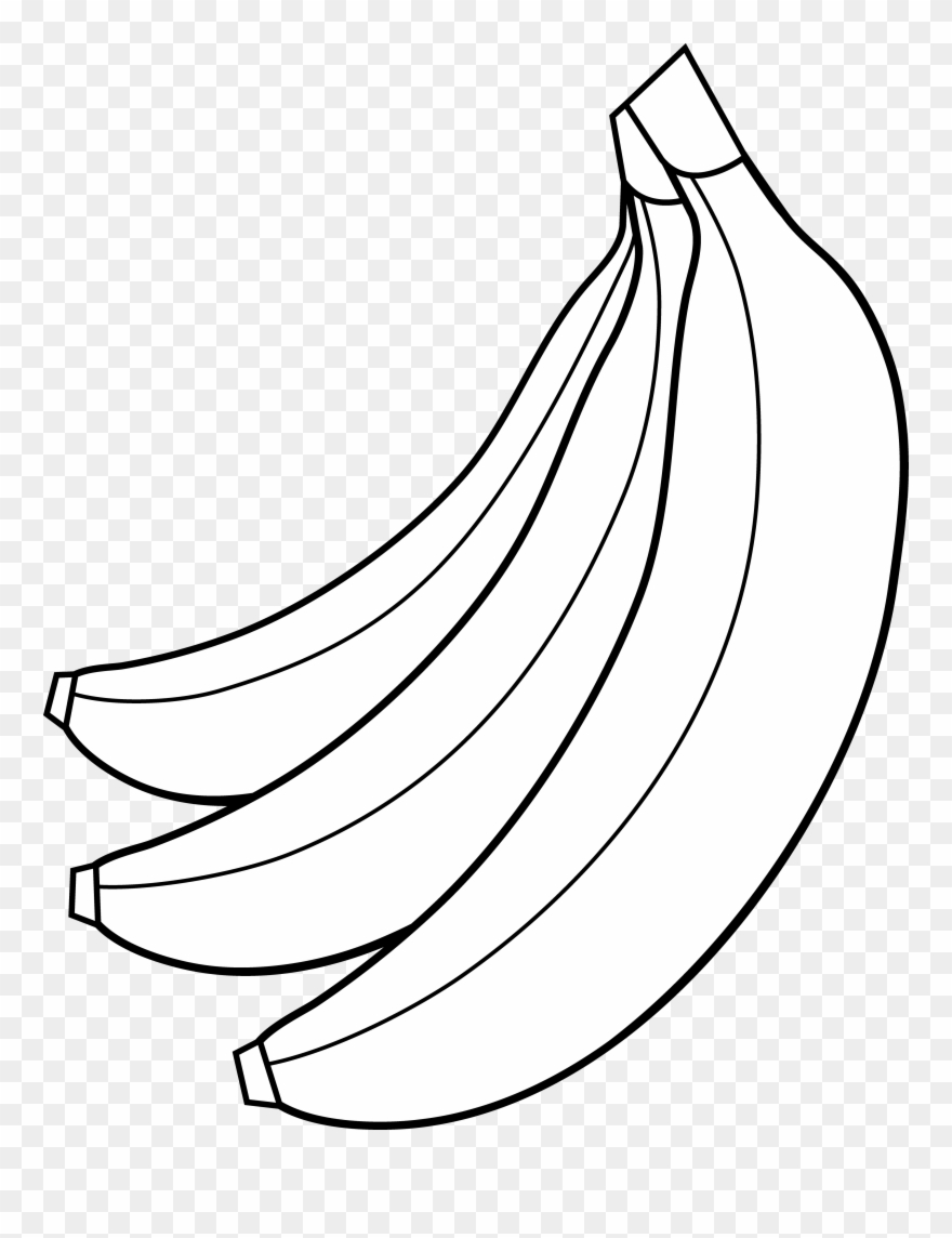Banna clipart black and white svg transparent download Bunch - Banana Clipart Black And White No Background - Png Download ... svg transparent download