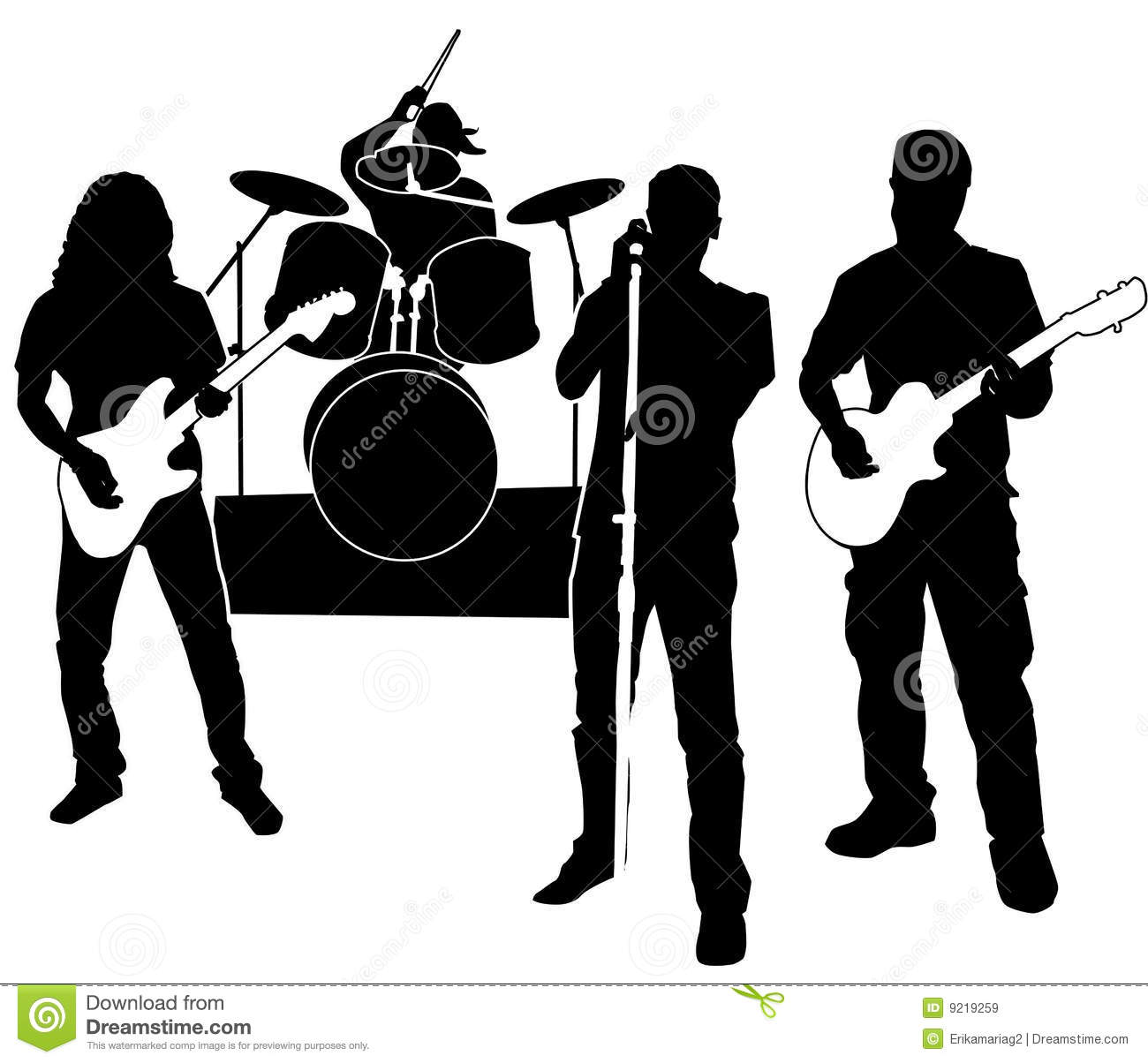 Free clipart band banner black and white download Band Clip Art Free | Clipart Panda - Free Clipart Images banner black and white download