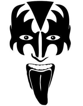 Band kiss hair clipart black and white jpg free library Pin by Patty Marshall on Face painting ideas in 2019 | Kiss art ... jpg free library