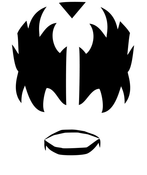 Band kiss hair clipart black and white png freeuse Are you looking for Kiss Rock band makeup? On this page you can find ... png freeuse
