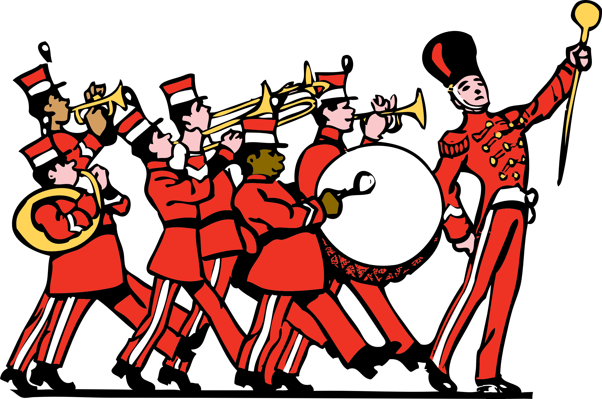 Band on the run clipart svg transparent Free People Marching Cliparts, Download Free Clip Art, Free Clip Art ... svg transparent