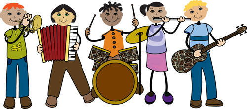 Band rehersal clipart banner royalty free download Band - Music banner royalty free download