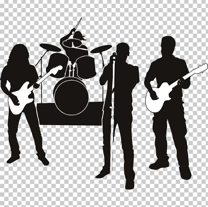 Band silhouette clipart royalty free download Rock Band Musical Ensemble Silhouette Graphics PNG, Clipart, Audio ... royalty free download