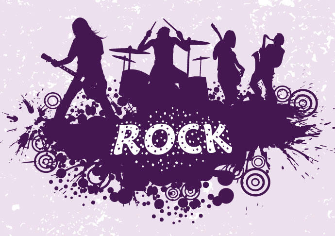 Banda de rock clipart clip art freeuse stock Rock Band Silhouette - Vector download clip art freeuse stock