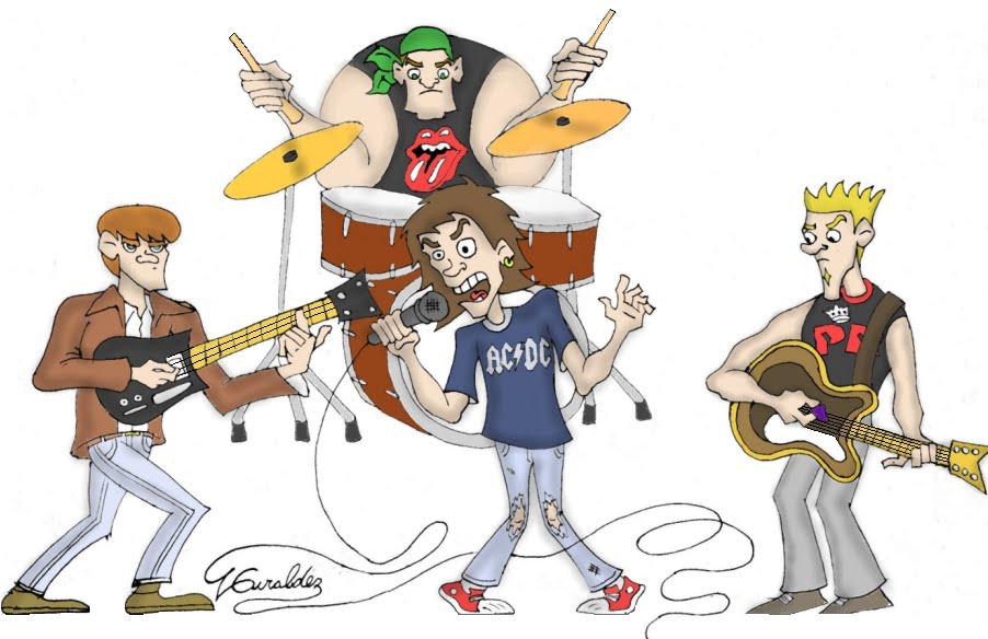 Banda de rock clipart png stock Luciano Giraldez Dibujos: Banda de Rock png stock
