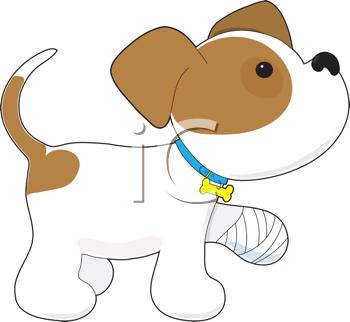Bandage dog leg cartoon clipart clip art library library Royalty Free Clipart Image of a Dog With a Sore Leg #456513 ... clip art library library