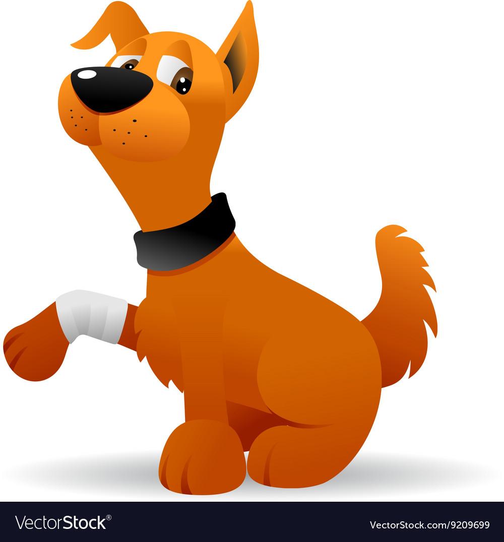 Bandage dog leg cartoon clipart svg library Injured dog svg library