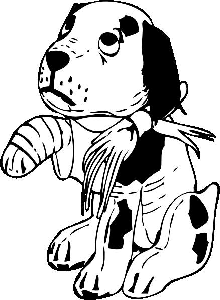 Bandage dog leg cartoon clipart freeuse stock Sad Dog With A Broken Leg Clip Art at Clker.com - vector clip art ... freeuse stock