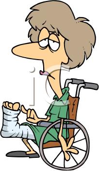 Bandage funny clipart jpg royalty free Sick Patient Clip Art   Patient Clip Art Image: Woman in wheelchair ... jpg royalty free