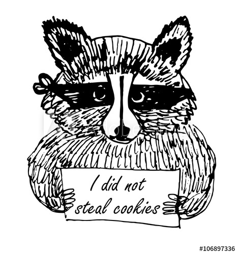 Bandage funny clipart png royalty free stock Funny Cartoon picture raccoon thief in a dark bandage with a sign ... png royalty free stock