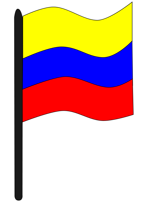 Bandera colombia clipart graphic stock Free Clipart: Bandera colombiana | Sebas graphic stock