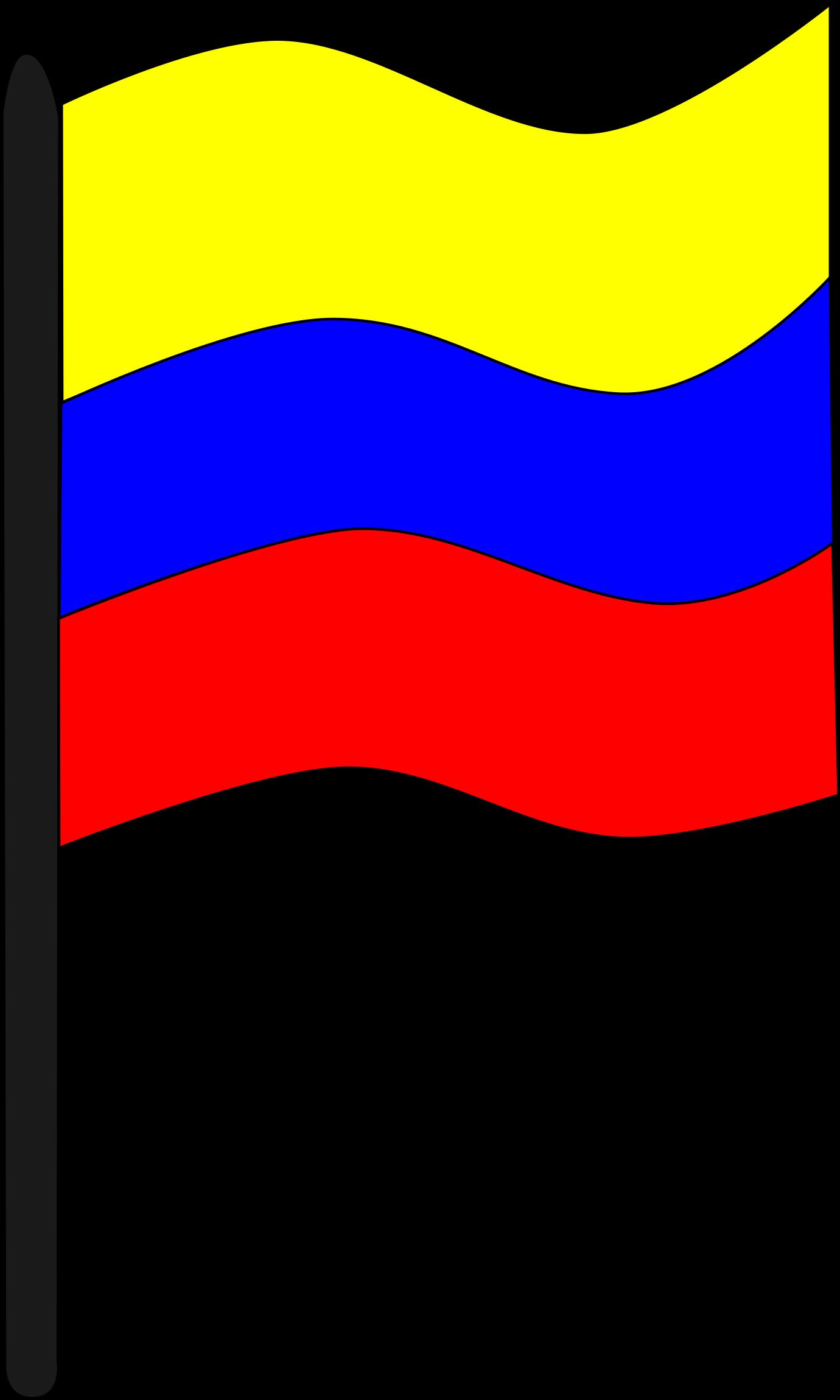 Bandera de colombia clipart picture royalty free library Rifle Clip Art Download - Bandera De Colombia Con Asta - Png ... picture royalty free library