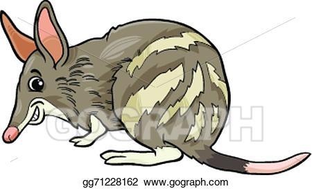 Clipart bandicoot svg stock EPS Illustration - Bandicoot animal cartoon illustration. Vector ... svg stock