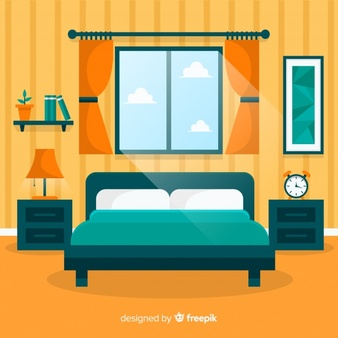 Free clipart of house with master bedroom banner freeuse stock Bedroom Vectors, Photos and PSD files | Free Download banner freeuse stock
