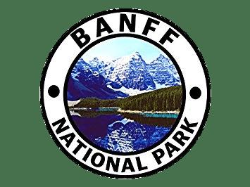Banff national park clipart svg royalty free download BANFF National Park Round Sticker transparent PNG - StickPNG svg royalty free download