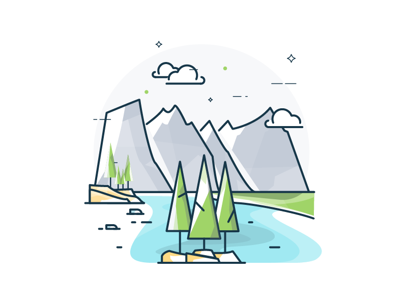 Banff national park clipart png library download Moraine Lake, Banff National Park by Vy Tat on Dribbble png library download