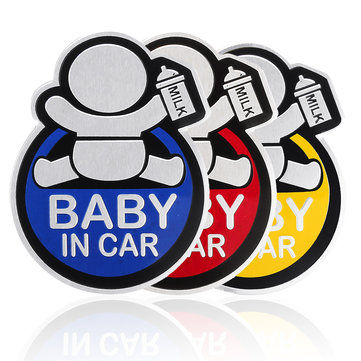 Banggood logo clipart vector library download Baby in Car Stickers Aluminum Auto Tail Window Decal Warning Safety Sign  Decal vector library download