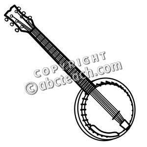 Banjo pictures clip art picture black and white Clip Art: Banjo B&W | Clipart Panda - Free Clipart Images picture black and white