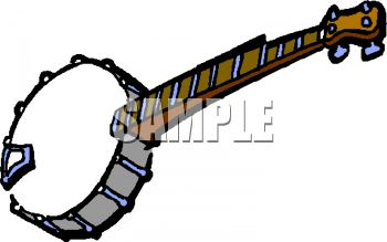 Banjo pictures clip art vector black and white stock Royalty Free Clipart Image: Traditional Banjo vector black and white stock