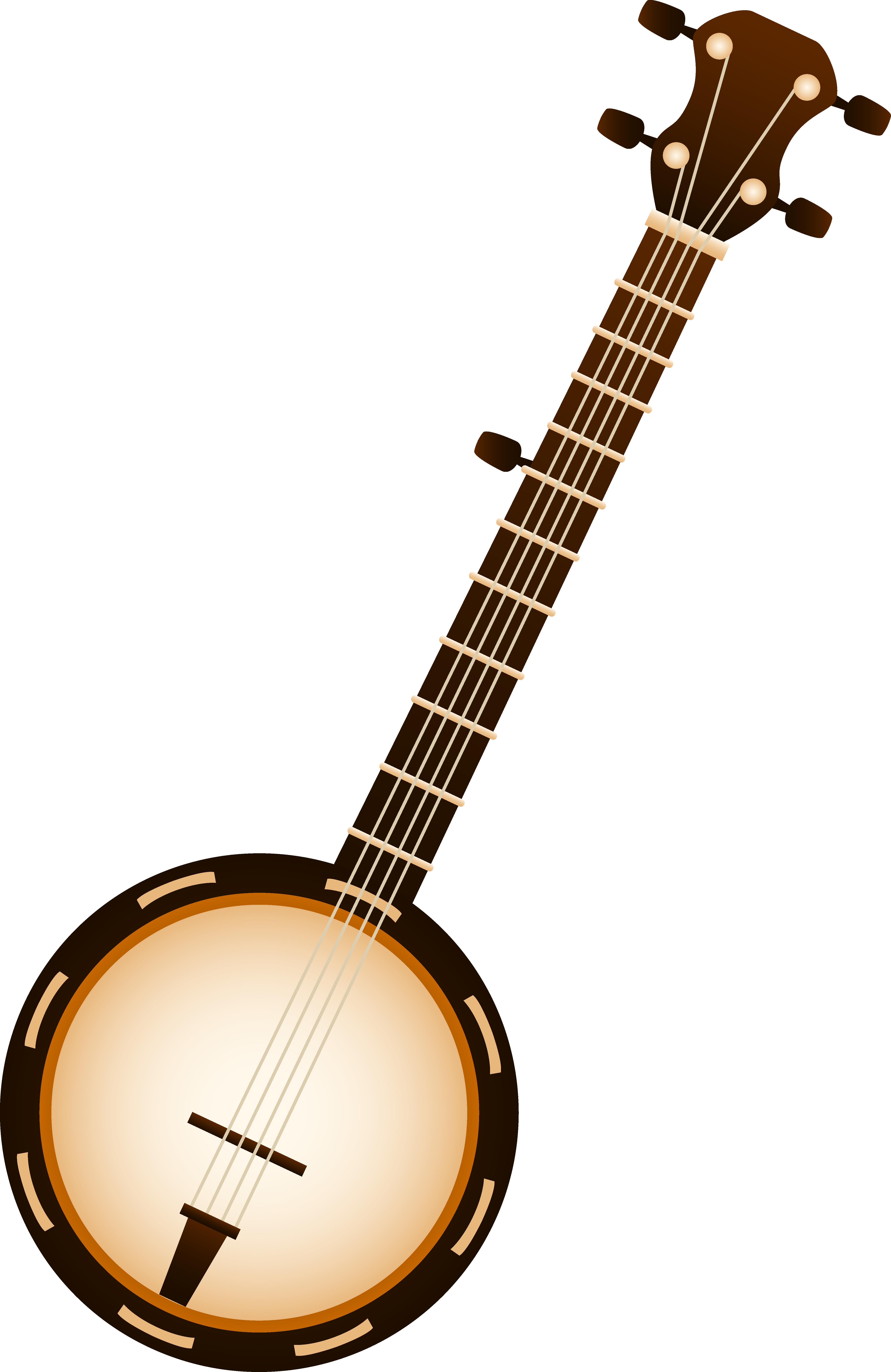 Banjo pictures clip art png free stock Banjo Musical Instrument - Free Clip Art png free stock