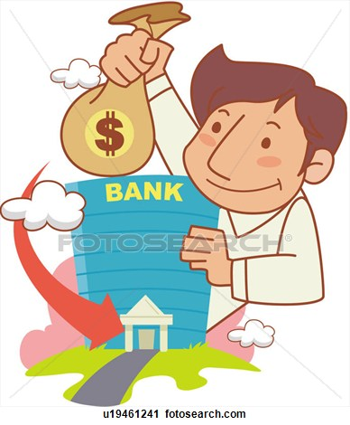 Bank account clipart