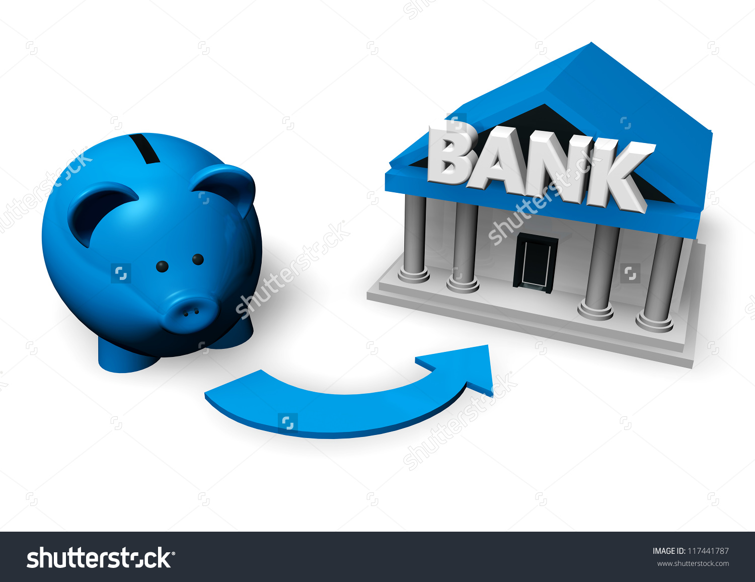Bank account clipart clip library download Savings Investment Concept Blue Piggybank Moneybox Stock ... clip library download