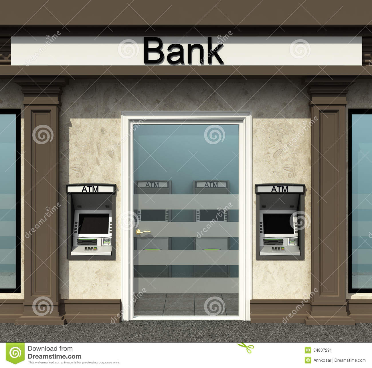 Bank branch clipart png free Bank Branch With Automated Teller Machine Royalty Free Stock ... png free