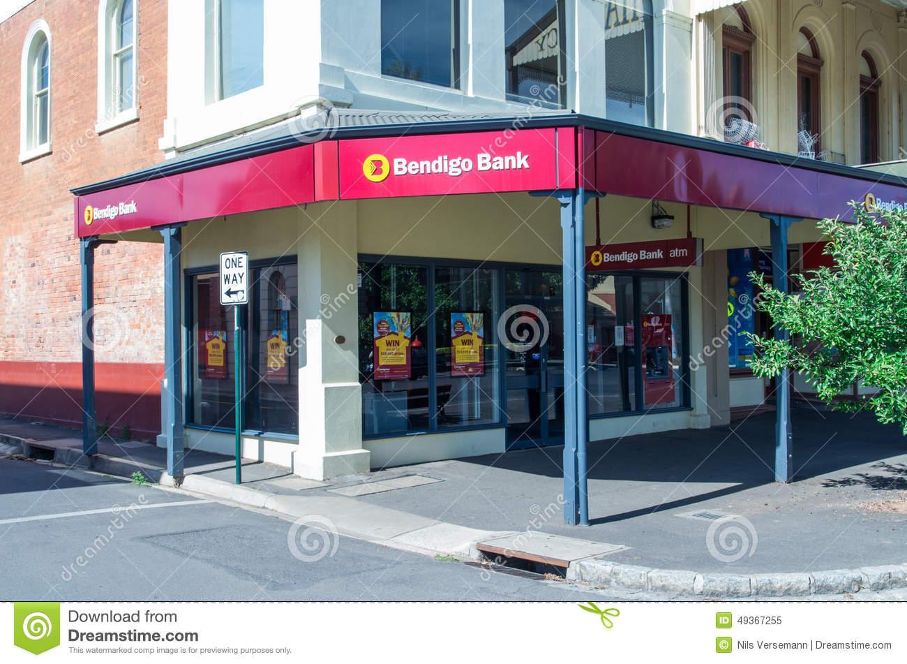 Bank branch clipart jpg black and white Bendigo Bank Branch Editorial Photo - Image: 42389566 jpg black and white