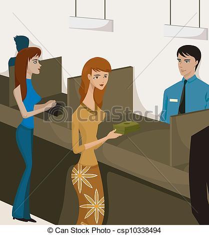 Bank cashier clipart vector stock Bank teller Clip Art and Stock Illustrations. 730 Bank teller EPS ... vector stock
