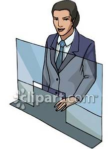 Bank cashier clipart jpg black and white stock Bank Teller Clipart Picture jpg black and white stock