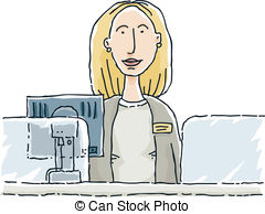 Bank cashier clipart clipart black and white Bank teller Clip Art and Stock Illustrations. 730 Bank teller EPS ... clipart black and white