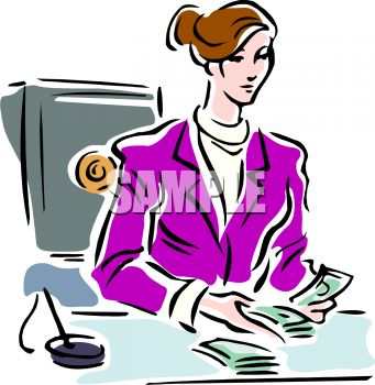 Bank cashier clipart png black and white library Bank Teller Clipart - Clipart Kid png black and white library