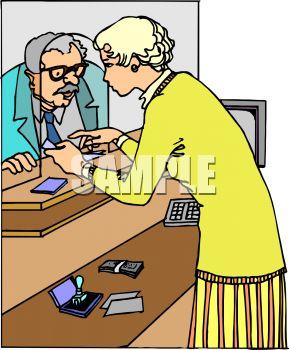 Bank cashier clipart clipart stock Bank Teller Clipart - Clipart Kid clipart stock