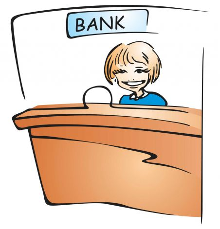 Bank cashier clipart png black and white download Bank cashier clipart - ClipartFest png black and white download