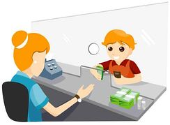 Bank cashier clipart graphic black and white download Bank cashier clipart - ClipartFest graphic black and white download