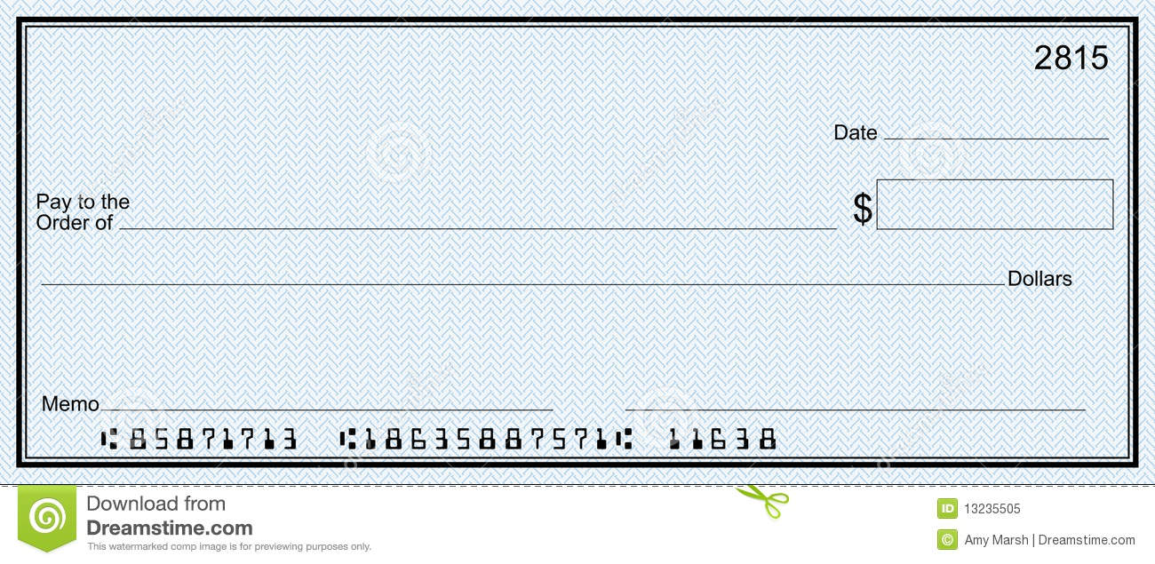 Bank checks clipart image royalty free stock Blank Check With Blue Security Check Background Mr No Pr No 5 8966 ... image royalty free stock