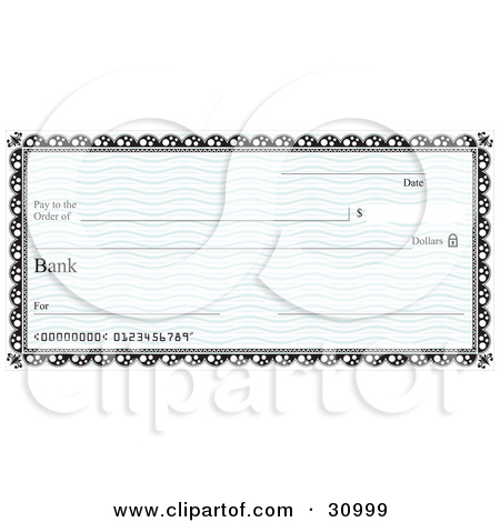 Bank checks clipart banner transparent library Royalty-Free (RF) Blank Check Clipart, Illustrations, Vector ... banner transparent library