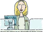 Bank clerk clipart freeuse Bank Clerk Clip Art - Royalty Free - GoGraph freeuse