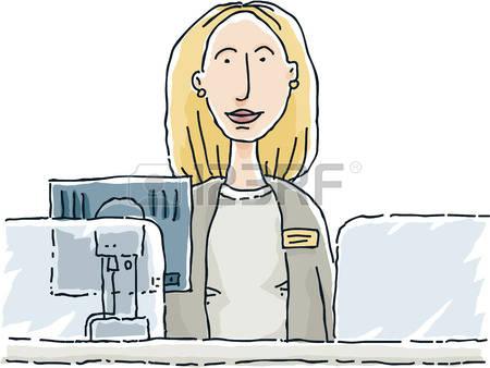 Bank clerk clipart jpg black and white 1,333 Customer Clerk Stock Vector Illustration And Royalty Free ... jpg black and white