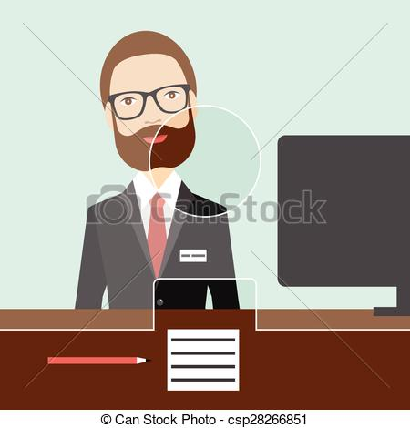 Bank clerk clipart clipart black and white Bank clerk Clip Art and Stock Illustrations. 492 Bank clerk EPS ... clipart black and white