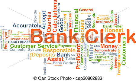 Bank clerk clipart clip art transparent library Stock Illustration of Bank clerk background concept - Background ... clip art transparent library