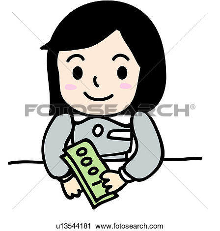 Bank clerk clipart vector free stock Clipart of paper money, bank clerk, money, holding, bank teller ... vector free stock