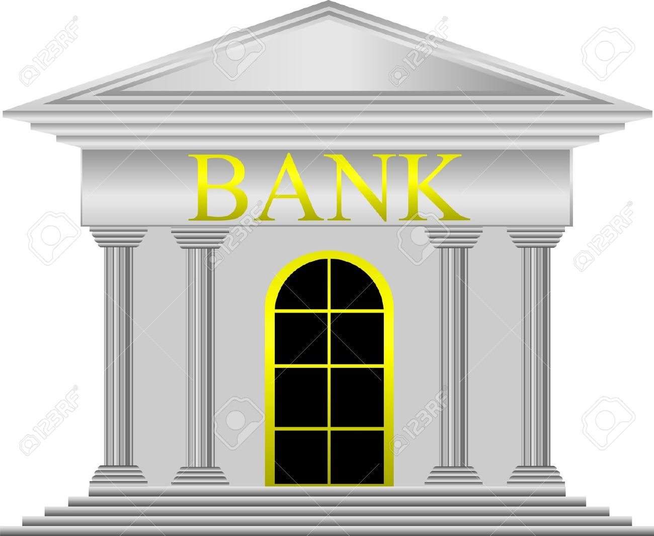 Bank clipart. Simple clip art of