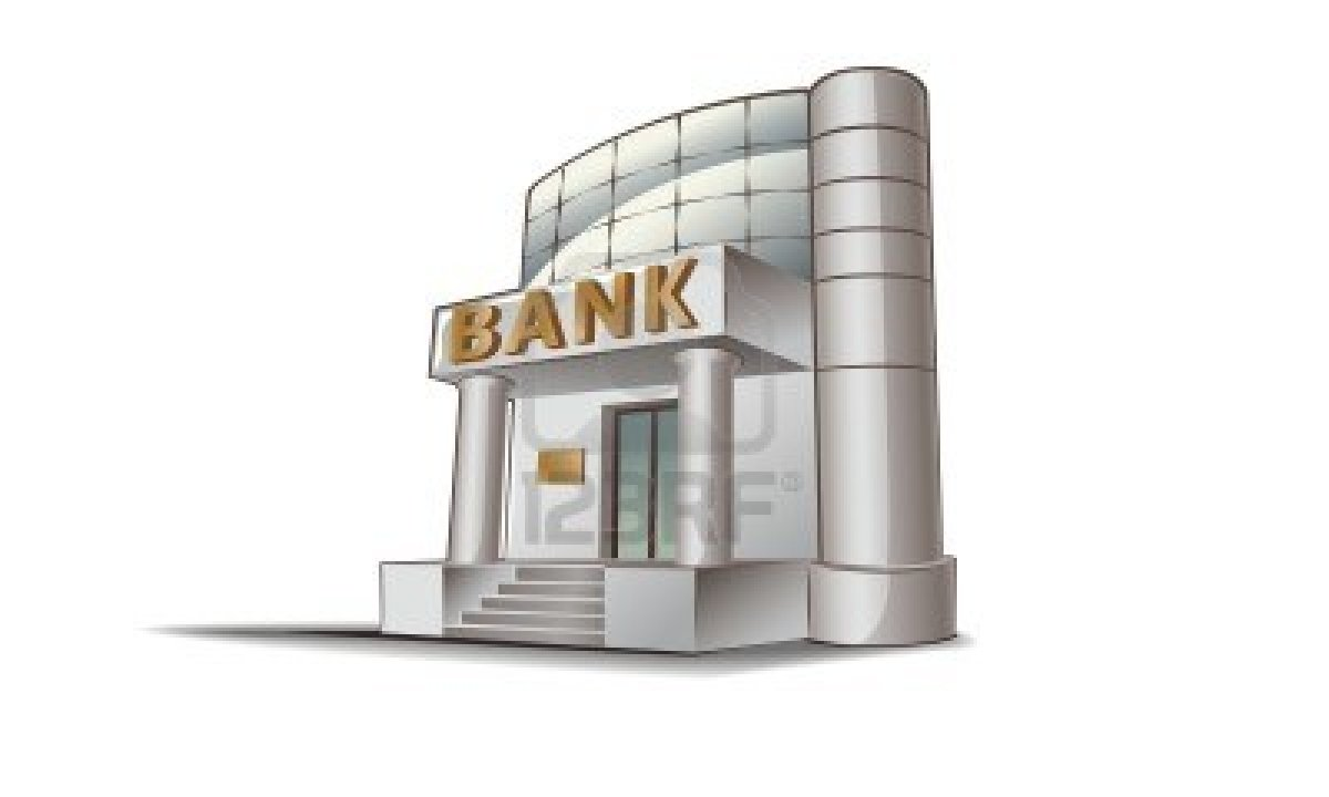 Simple clip art of. Bank clipart