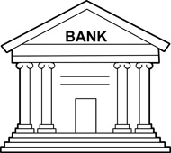 Bank clipart. Kid money outline hits